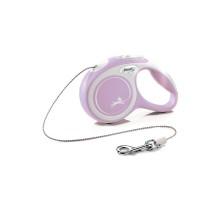 flexi рулетка NEW LINE Comfort XS (до 8 кг) трос 3 м серый/розовый