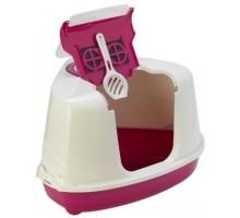 Био-туалет MODERNA FLIP CORNER 55X45X38см угловой, с совком, розовый