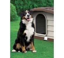 BAMA PET будка для собак BUNGALOW L 101х94х77h см, пластик, бежевая