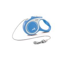 flexi рулетка NEW LINE Comfort XS (до 8 кг) трос 3 м серый/синий