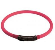 Светящийся ошейник собак HUNTER LED YUKON 20-70 см, розовый