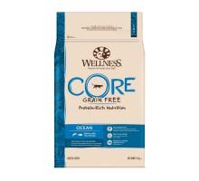Сухой корм Wellness CORE Ocean беззерновой для взрослых кошек, лосось с тунцом, 10 кг