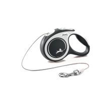 flexi рулетка NEW LINE Comfort XS (до 8 кг) трос 3 м серый/черный