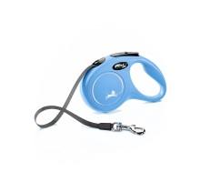 flexi рулетка New Classic S (до 15 кг) 5 м лента синяя