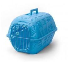 Переноска IMAC (Имак) CARRY SPORT д/кошек пепельно-синий, с металлической дверью, 48,5х34х32см