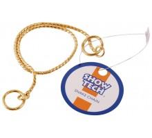 Металлическая шоу цепочка-кобра SHOW TECH 40 см х 2,5 мм золотая