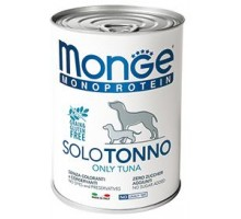 Паштет для собак MONGE DOG MONOPROTEICO SOLO, тунец - 400 грамм