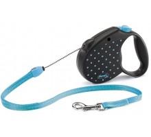 Рулетка для собак Flexi COLOR S 5м/ до 12 кг голубая, трос