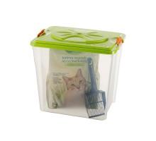 BAMA PET контейнер для хранения корма SIM BOX 32л 40x30x37h см, прозрачный