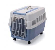Переноска IMAC (Имак) KIM 60 на колесах д/кошек, пепельно-синяя, 60х40х45см