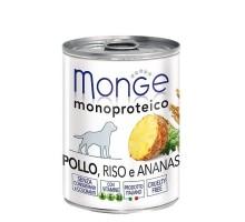 Паштет для собак MONGE DOG MONOPROTEICO FRUITS , из курицы с рисом и ананасами - 400 грамм