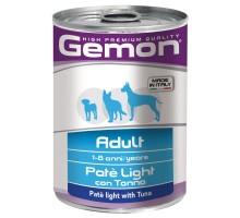 Консервы для собак Gemon Dog Light облегченный паштет тунец 400 г