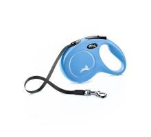 flexi рулетка New Classic M (до 25 кг) 5 м лента синяя