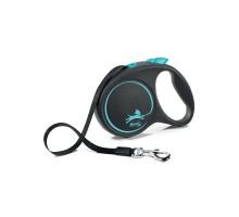 flexi рулетка Black Design L (до 50 кг) 5 м лента черный/синий