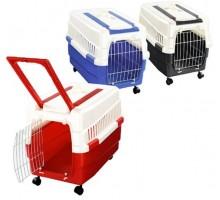 Переноска IMAC (Имак) KIM 60 на колесах д/кошек, разные цвета, 60х40х45см