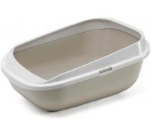 Туалет-лоток MODERNA COMFY STEP 57X42X25см ,серый