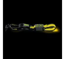 Светящийся ошейник собак HUNTER MANOA GLOW S (45-50 см)/2,5 см желтый