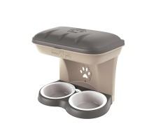 BAMA PET миска для собак настенная двойная MAXI 2200 мл 50х29х52h см, бежевая