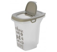 Контейнер для корма передвижной Moderna Pet Wisdom 21X27X27 см, малый 6 л , серый