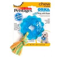 Игрушка Petstages для собак Mini ОРКА кольцо с канатом диаметр 8 см маленькая
