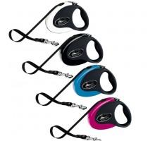Рулетка для собак Flexi COLLECTION М (до 25кг) 5м лента черная/розовая