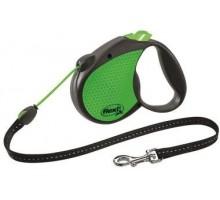 Рулетка для собак Flexi LIMITED EDITION NEON REFLECT S (до 12 кг) 5 м, зеленая трос