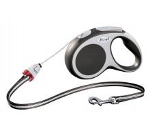Рулетка для собак Flexi VARIO S (до 12 кг) 5 м трос антрацит
