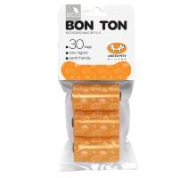 """United Pets пакеты """"Refill"""" для набора """"BON TON"""" 3 рулона по 10 пакетов, оранжевые"""