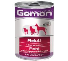 Паштет Gemon Dog для собак паштет говяжий рубец 400 г