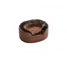 Hunter софа для собак Gotland 60х50 см, искусственная кожа/плюш, коричневый