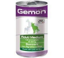 Консервы для собак Gemon Dog Medium средних пород кусочки ягненка с рисом 1250 г