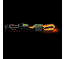 Светящийся ошейник собак HUNTER MANOA GLOW L (55-60 см)/2,5 см оранжевый