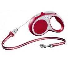 Рулетка для собак Flexi VARIO S (до 12 кг) 5 м трос красная