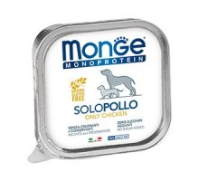 Паштет для собак Monge Dog Monoproteico Solo из курицы 150грамм * 24 штуки